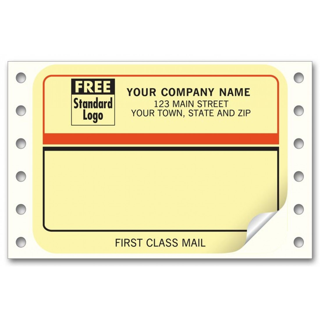 first class continuous mailing labels free shipping