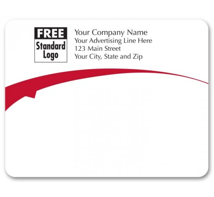 Flying Arch Red Mailing Label