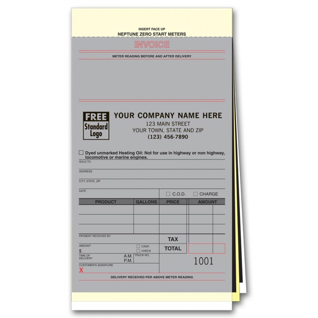 Fuel or Diesel Neptune Compatible Invoices