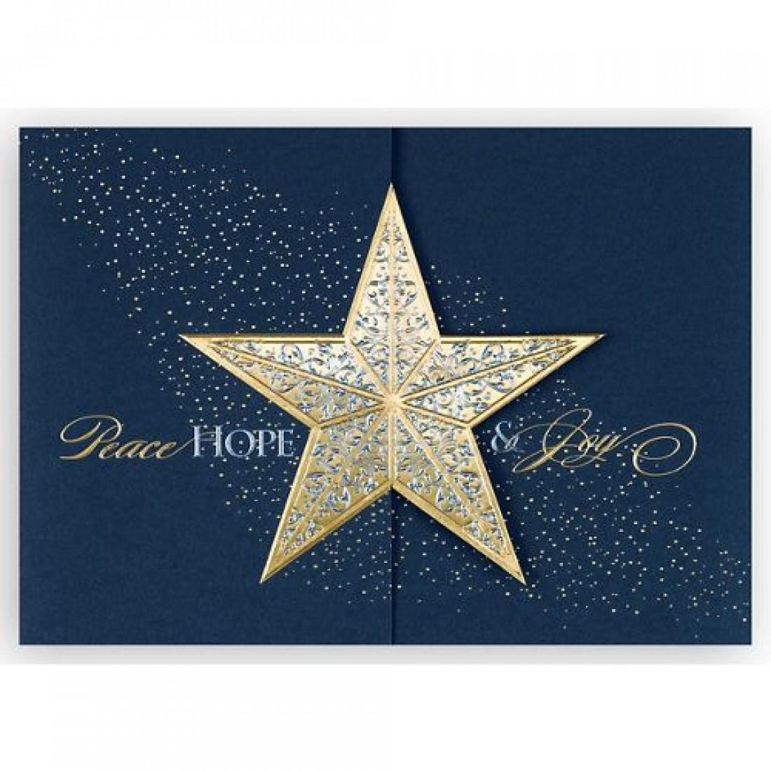 Gatefold Star Christmas Card