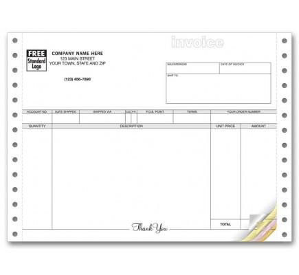 General Continuous Invoice