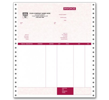 General Continuous Invoice for Peachtree - Parchment
