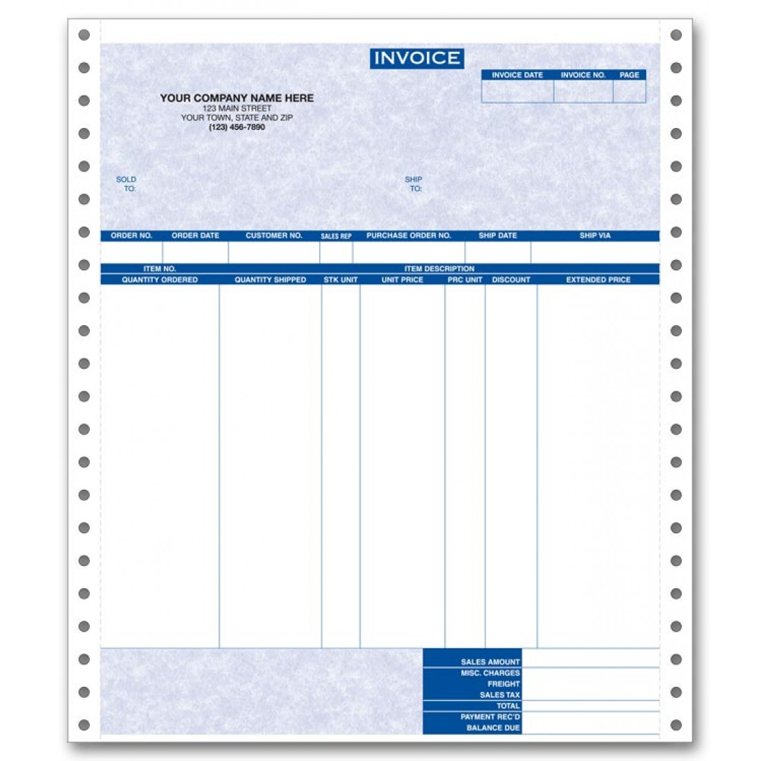 General Continuous Invoice for RealWorld - Parchment