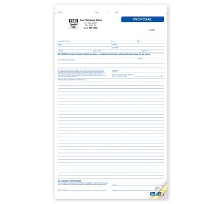 General Large Proposal Forms