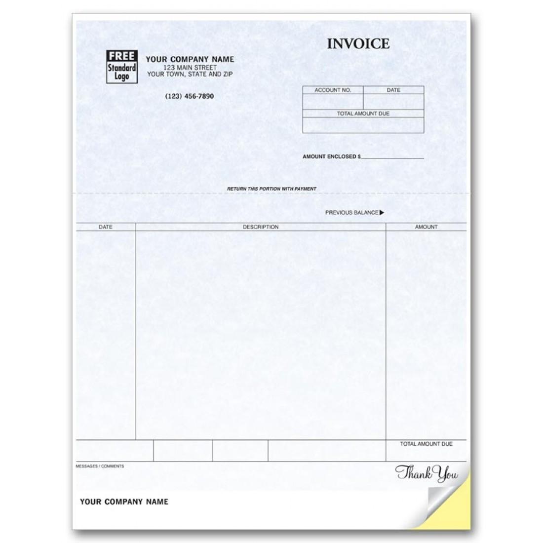 General Laser Invoice - Parchment