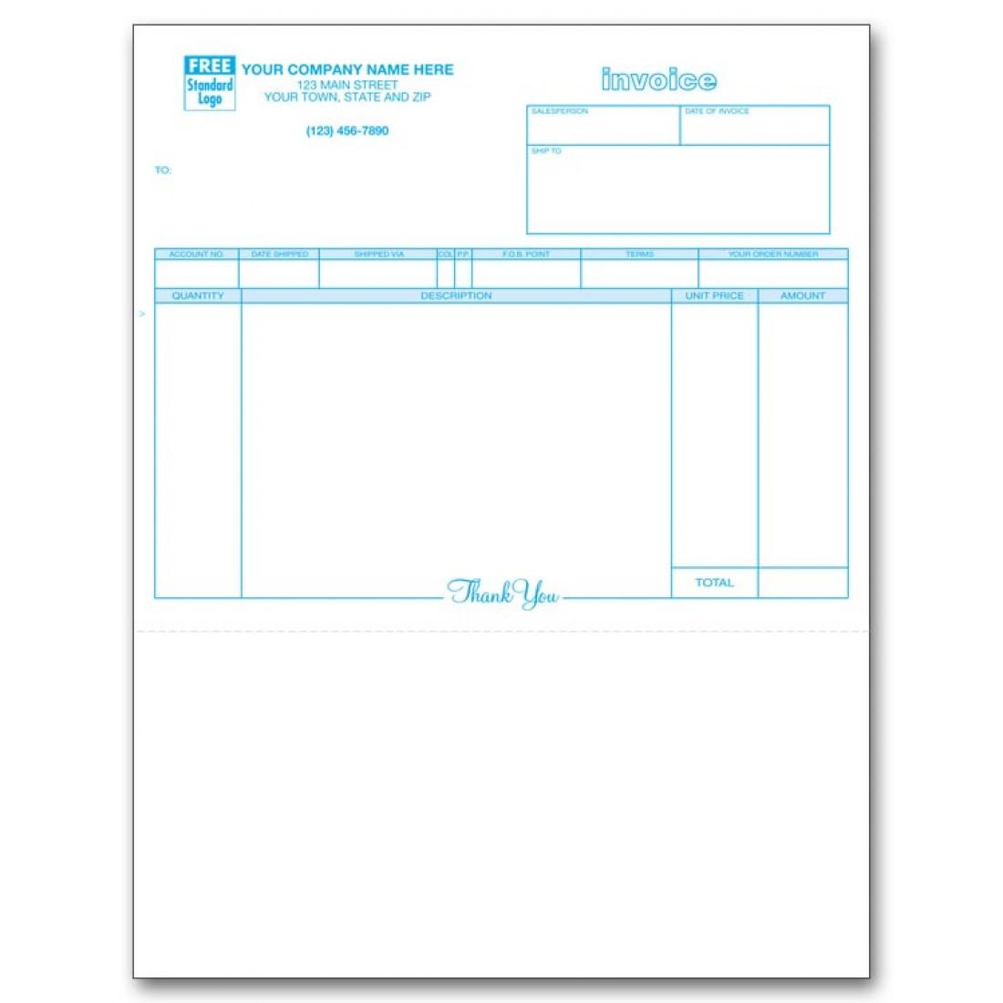 General Laser Invoice, 3-Part