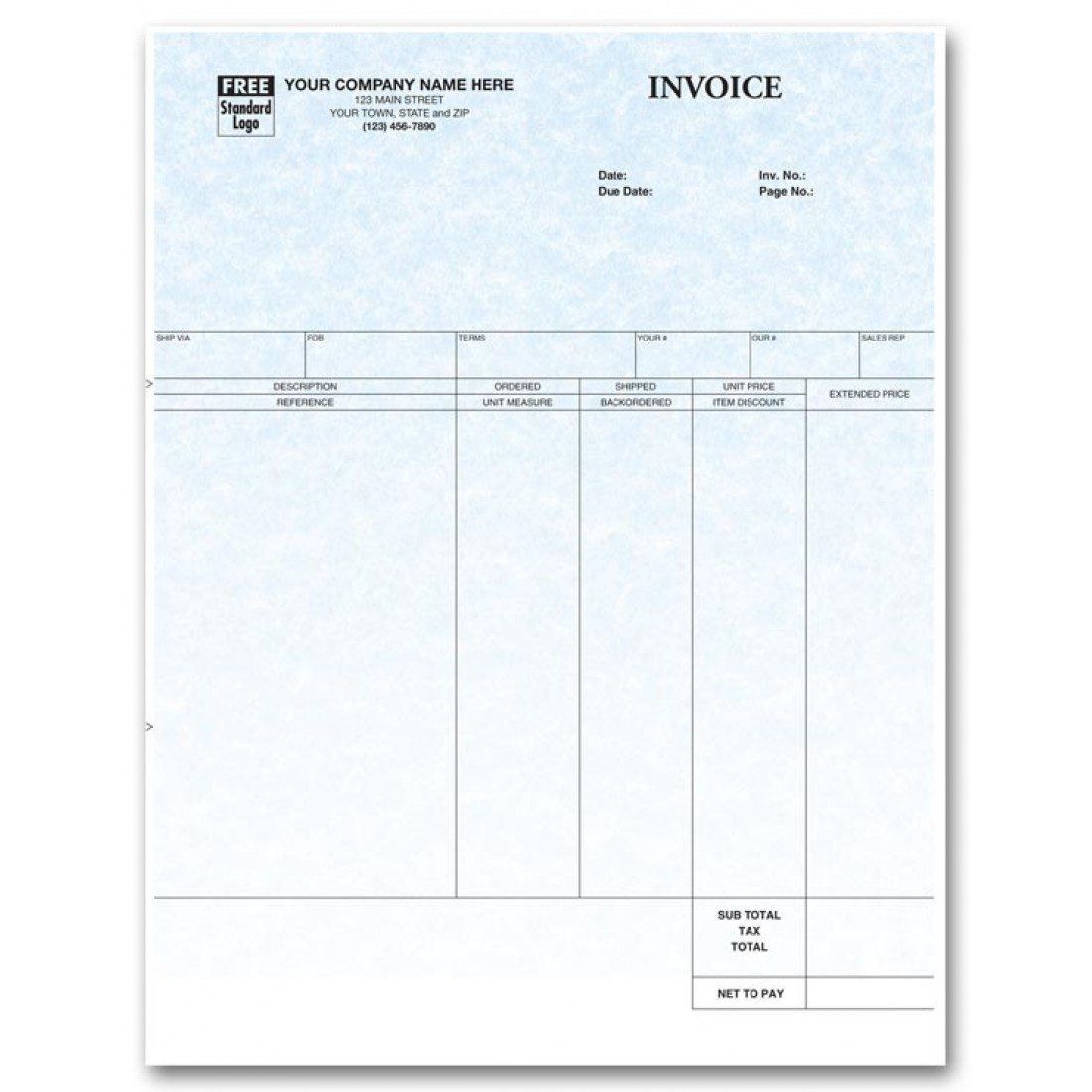 General Laser Invoice for DacEasy - Parchment