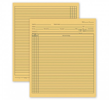 General Patient Exam Records Folder Style