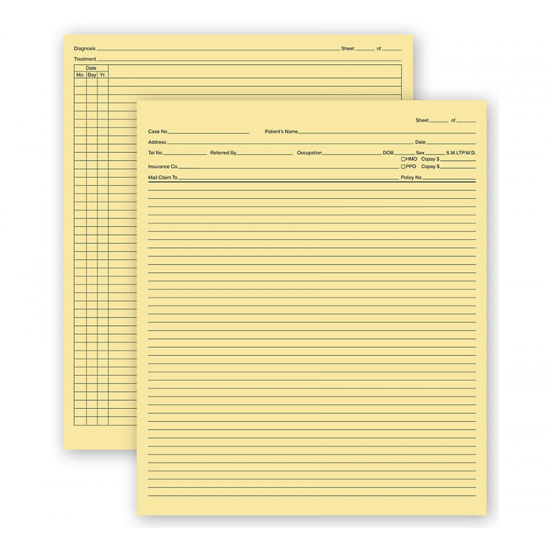General Patient Exam Records Folder W/O Account Record