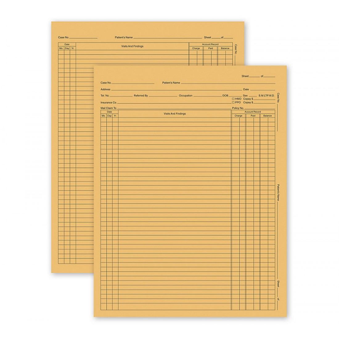 General Patient Exam Records Letter Style