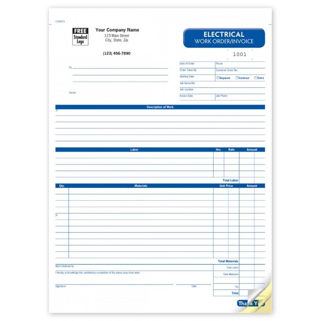 General Work Order Forms