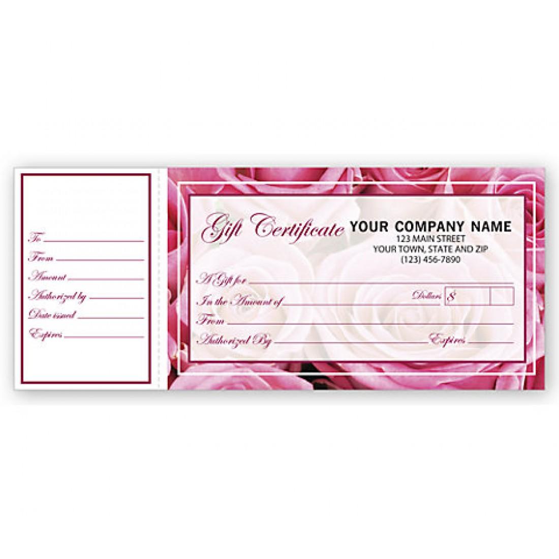 Gift Certificates, Rose Motif