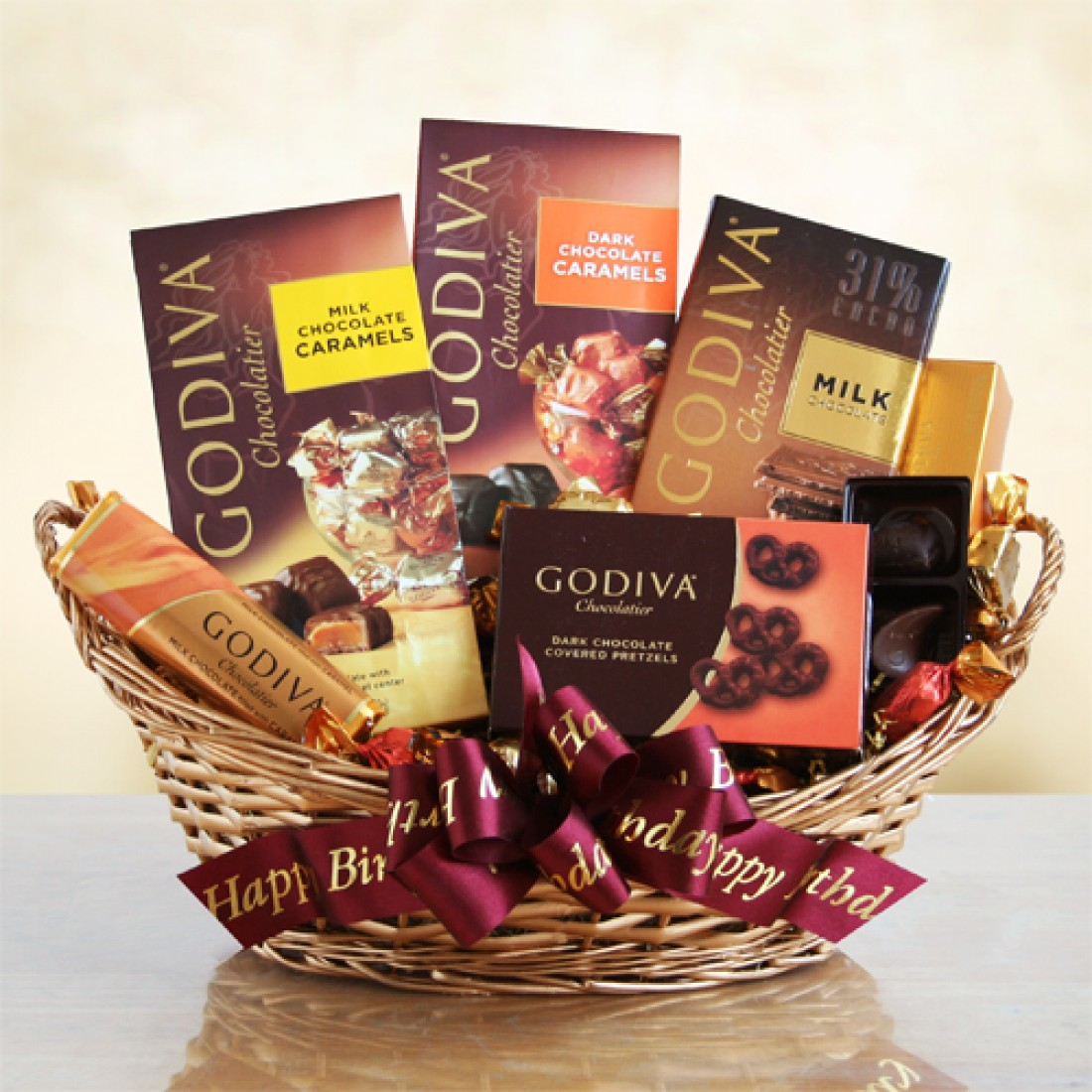 Gift Baskets With Chocolate Godiva Birthday Free Shipping