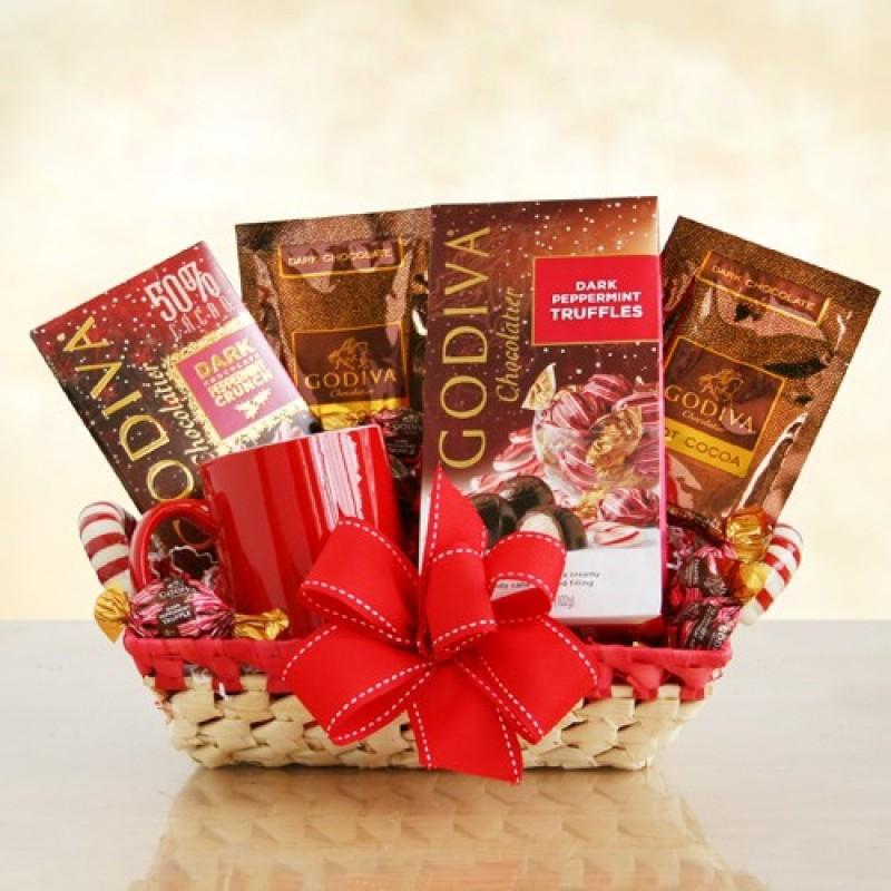 Godiva holiday basket free shipping