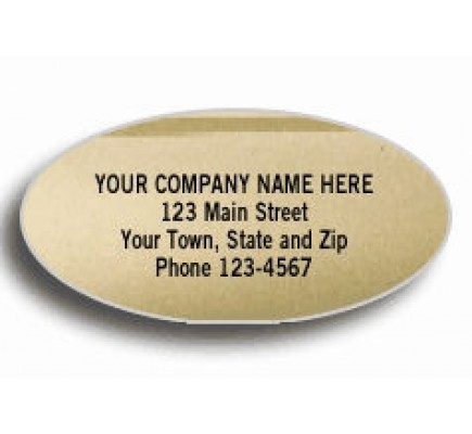 Gold Oval Foil Labels (337) - Popular Labels   - Labels