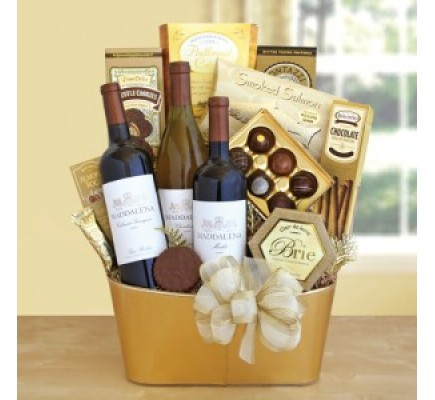 Golden Vineyard Gourmet Wine Gift