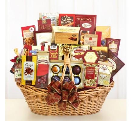 Gourmet Grandeur Food Gift Basket
