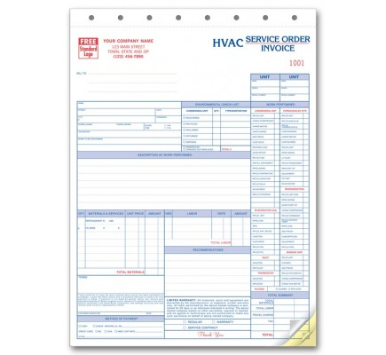 HVAC Detailed Checklist Service Forms