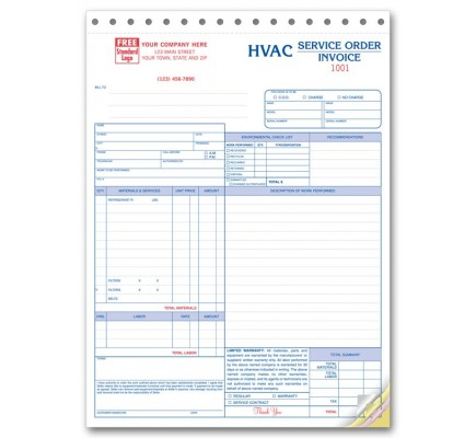 HVAC Work Orders - Large Format