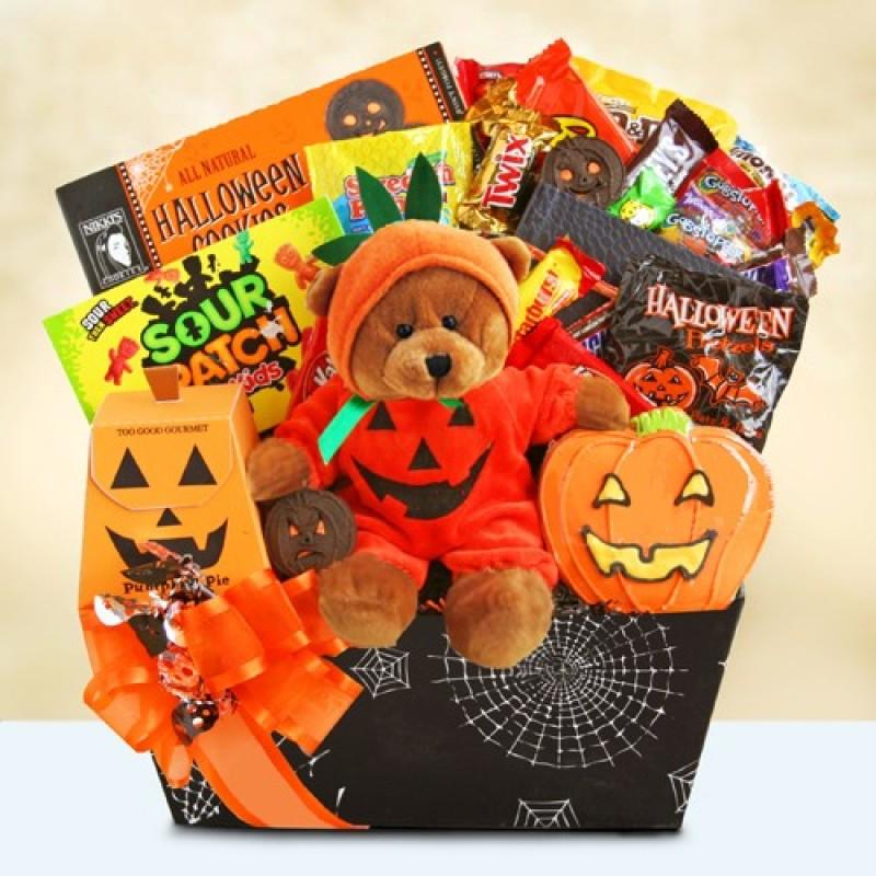 Halloween pumpkin party spooky gift basket at print ez