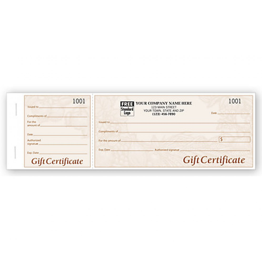 Harvest Gift Certificates, Booked, Light Burgundy