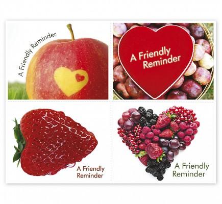 Healthcare Reminder Card Heart Fruit Laser Postcard