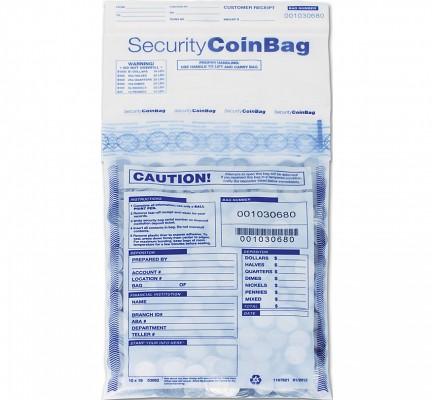Heavy Duty Coin Deposit Bag Clear Small