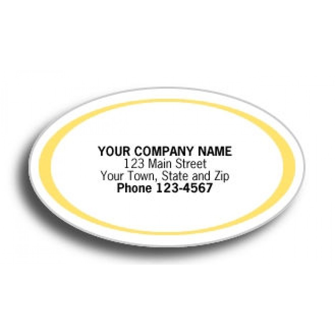 High Gloss Gold Labels