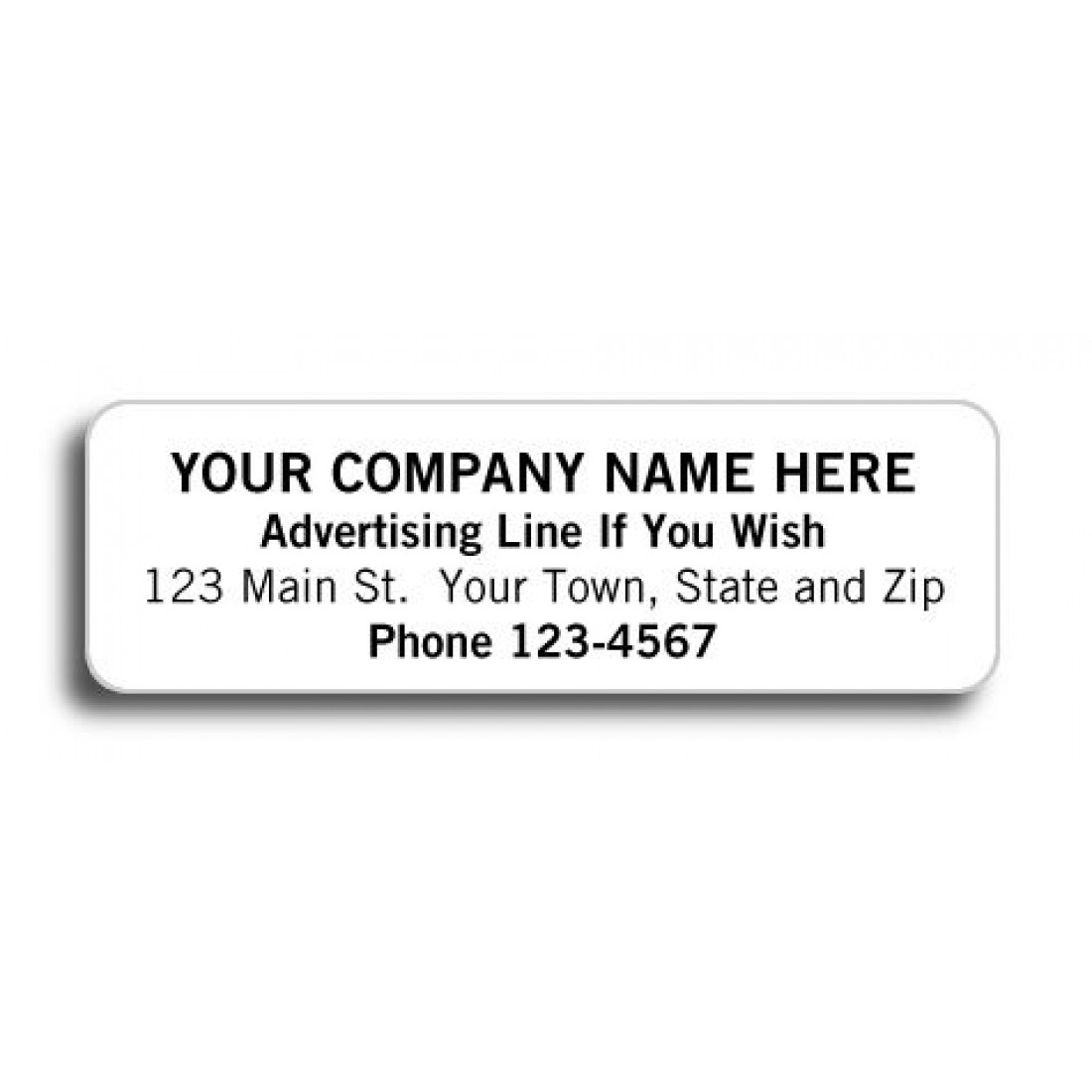 high gloss return address labels free shipping