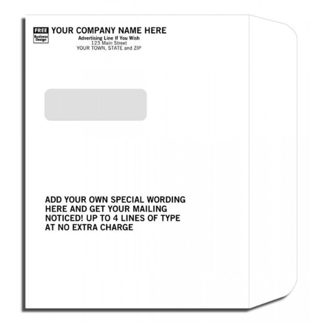 Imprinted Booklet Type Window Envelopes
