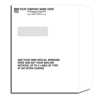 Imprinted Booklet Type Window Envelopes mailing envelopes, white envelopes