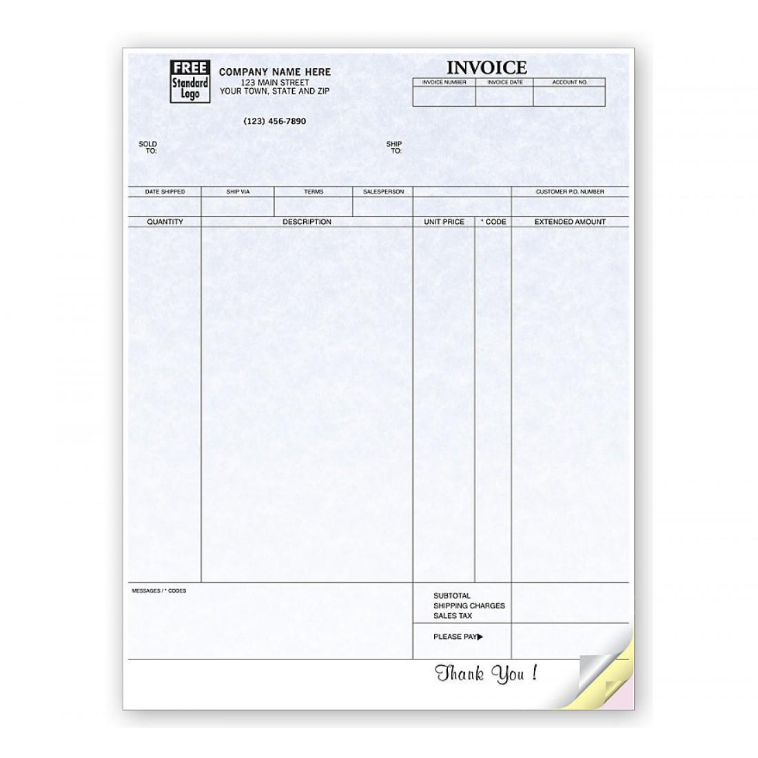 Invoices, Laser, Parchment
