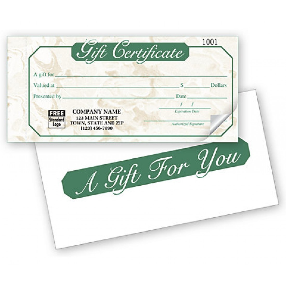 Ivory Marble Gift Certificate Snapsets