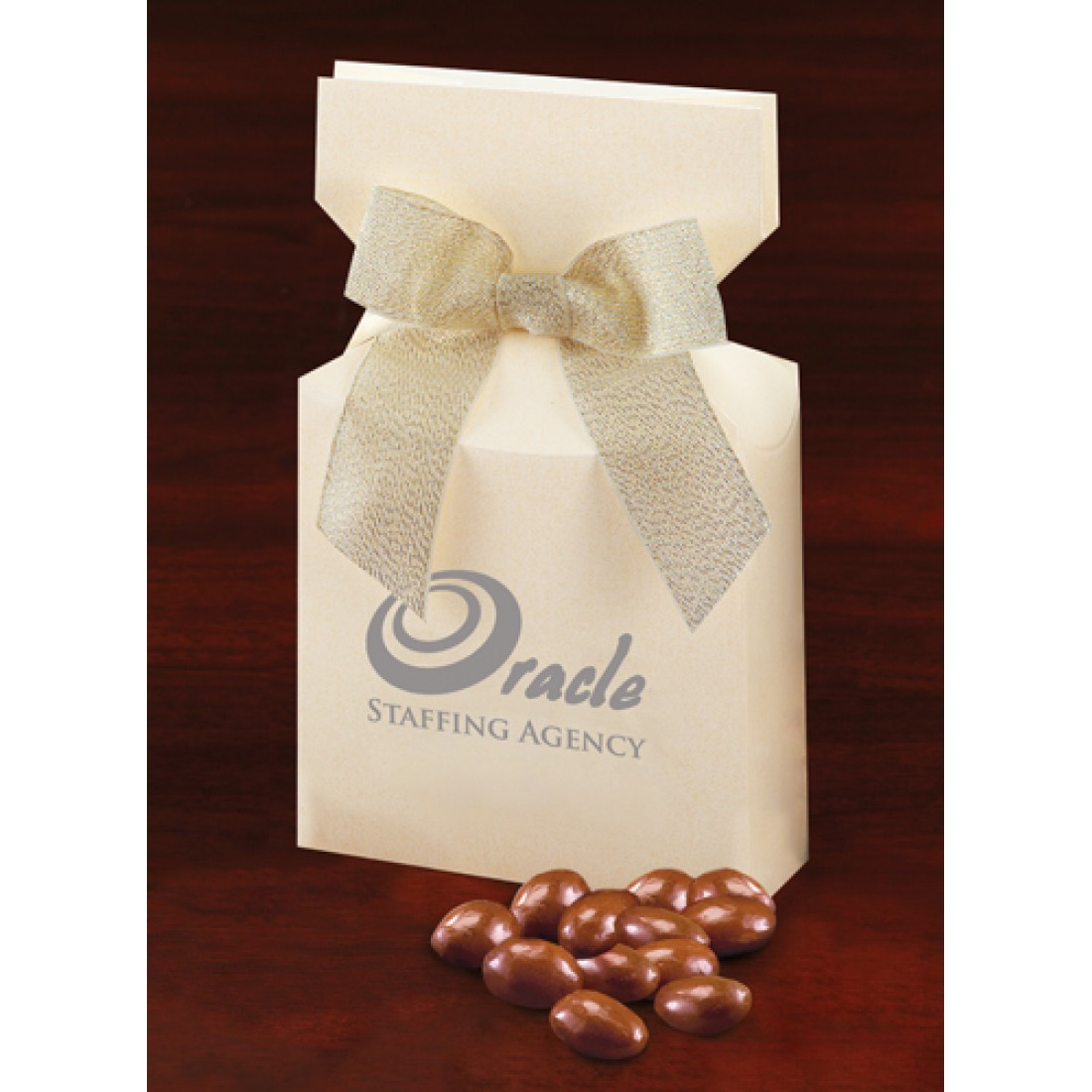 Ivory Promotional Custom Box with Almonds