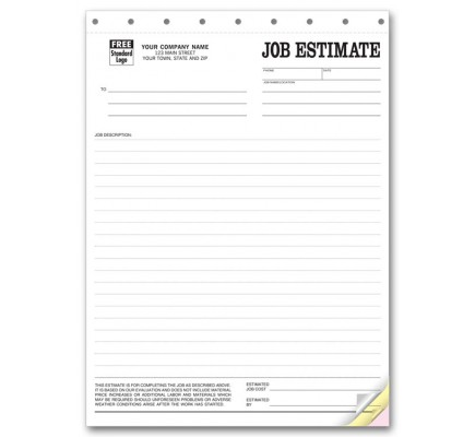 Job Estimate Business Forms