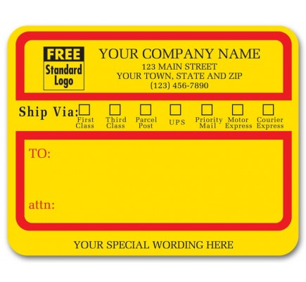 Jumbo Ship Via Padded Labels
