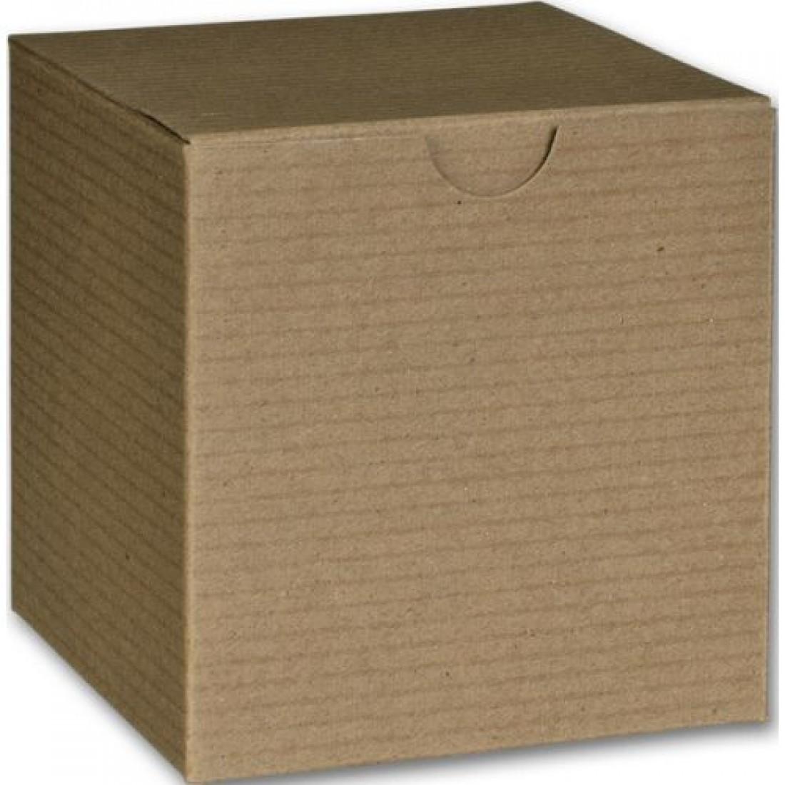 "Kraft 1PC Gift Box 4x4x4"""