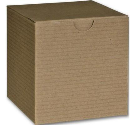 Kraft One Piece Gift Boxes 4 x 4 x 4