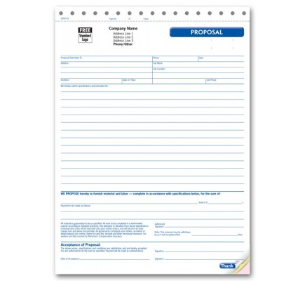 Large Proposal Forms