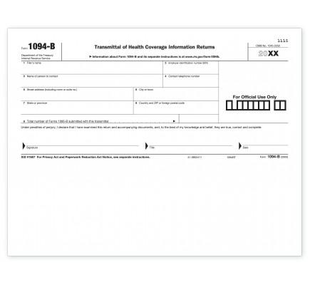Laser 1094-B Transmittal Health Coverage