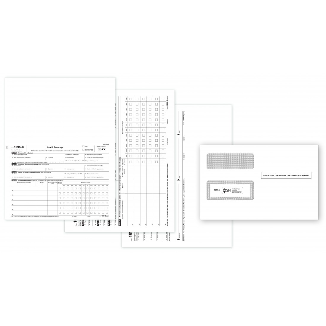 Laser 1095-B ACA Set with Compatible Envelopes