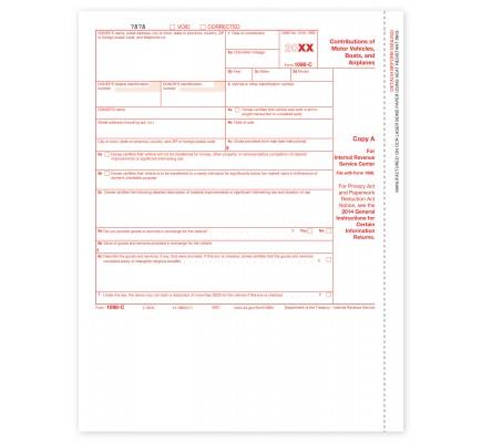 Laser 1098 C Tax Form Copy A