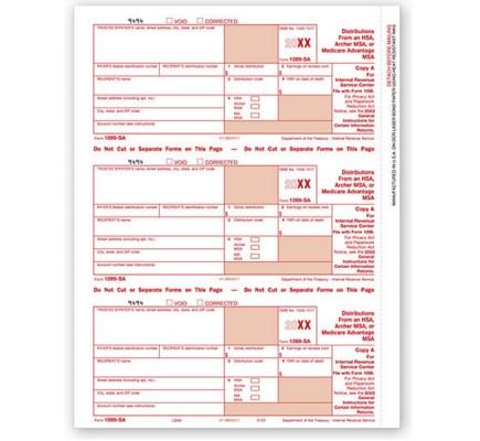 Laser 1099 SA, Federal Copy A