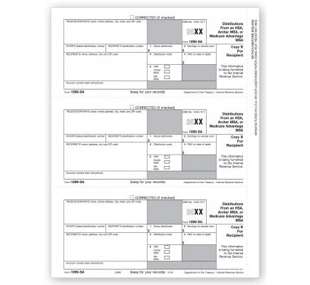 Laser 1099 SA, Recipient Copy B