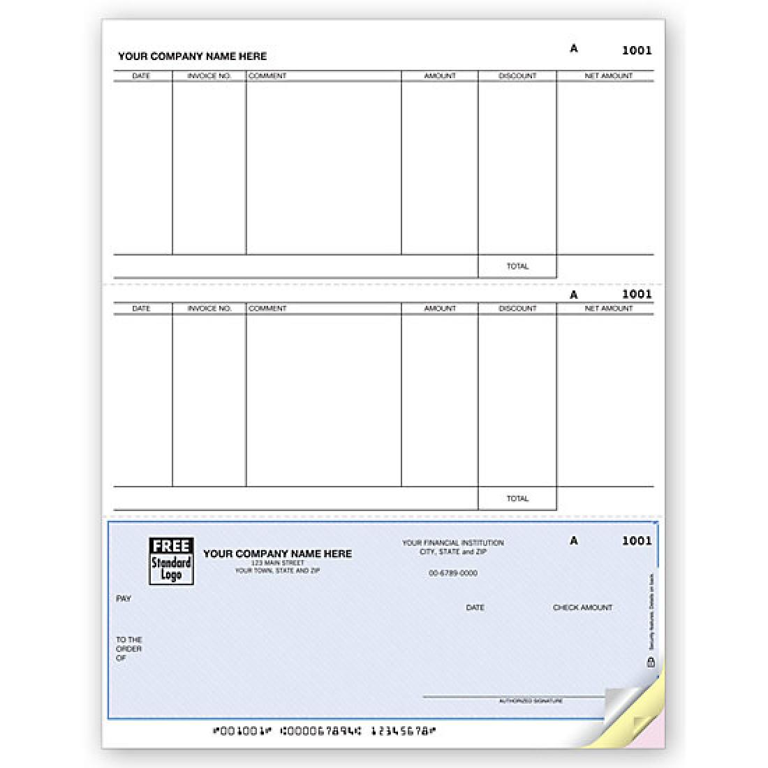 Laser Bottom Accounts Payable Check