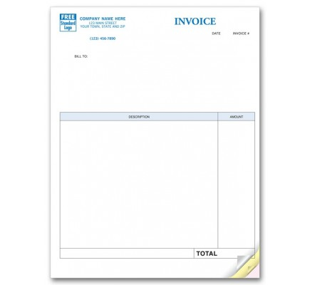 Laser Invoices compatible with QuickBooks