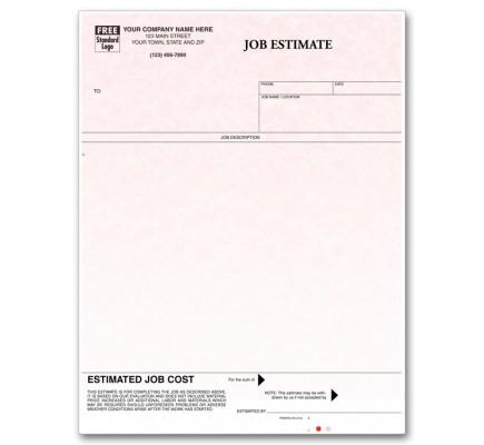 Laser Job Estimate - Parchment