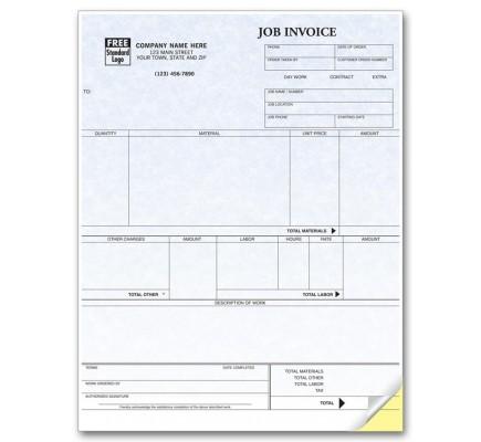 Laser Job Invoice - Parchment