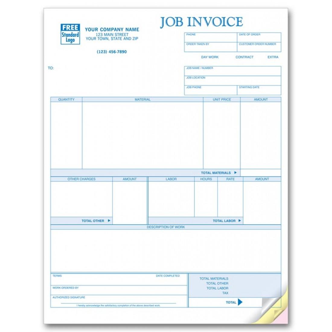 Laser Job Invoice