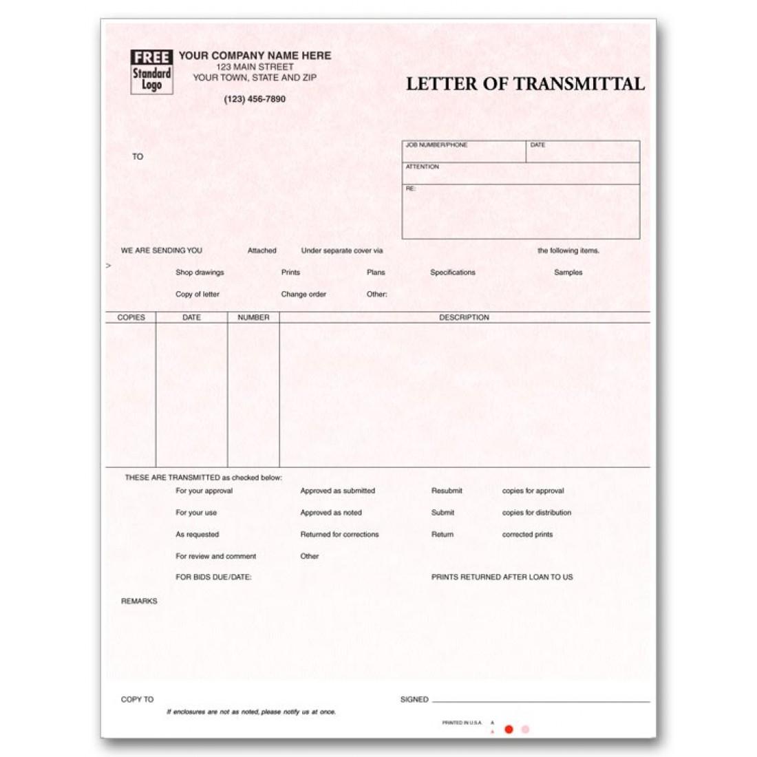 Laser Letter of Transmittal - Parchment